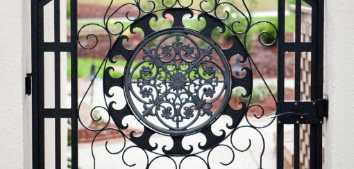 Custom wrought iron garden gate – 4′ x 6′
