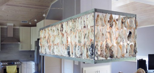 Large Oyster Shell Lighting Fixture