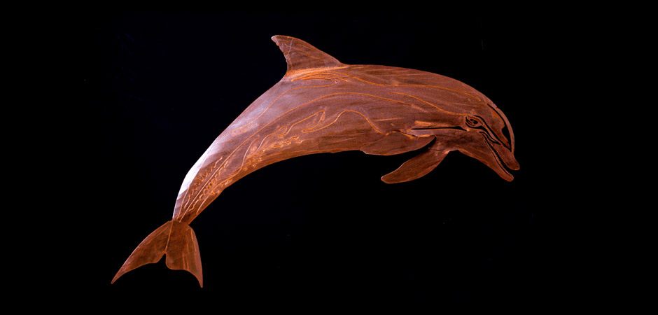 Steel Dolphin in rust finish