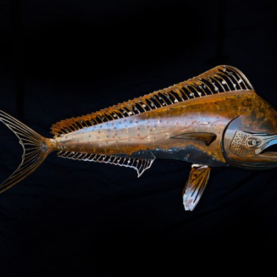 Steel Mahi Mahi in rust finish