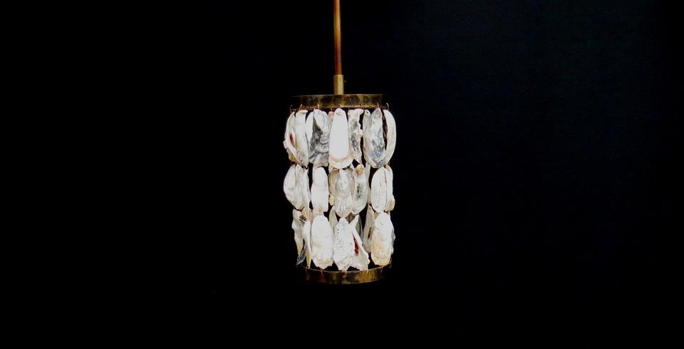 Oyster Shell Pendant Light