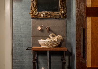 Bathroom Vanity Driftwood Mirror & Sconces
