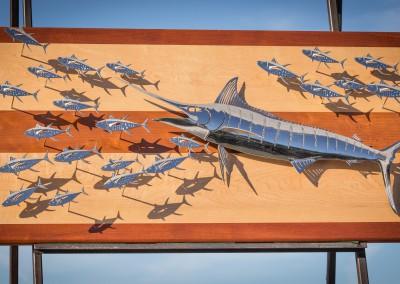 Blue Marlin Polished Steel 3