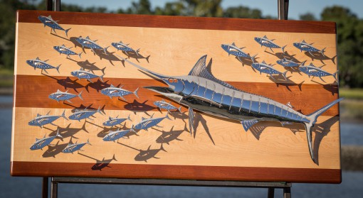 Blue Marlin Polished Steel