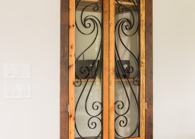 Scroll Work Media Doors