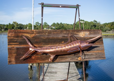 White Marlin Copper on Barn Wood