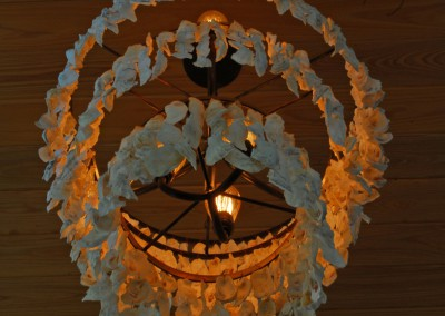 how to make an oyster shell chandelier