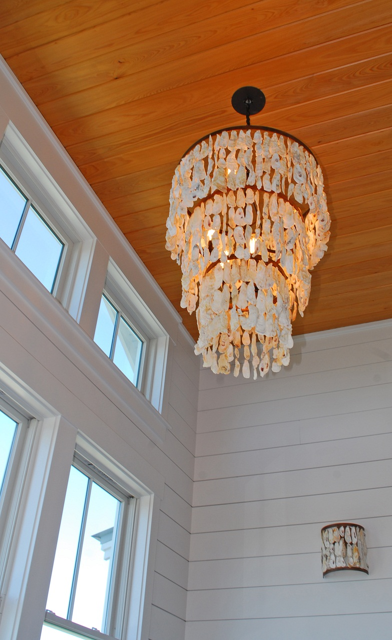 fabric silk cream oyster drum com canada pendant pleated pendantceiling lights ceiling shade vanessa chandelier crystal decomust