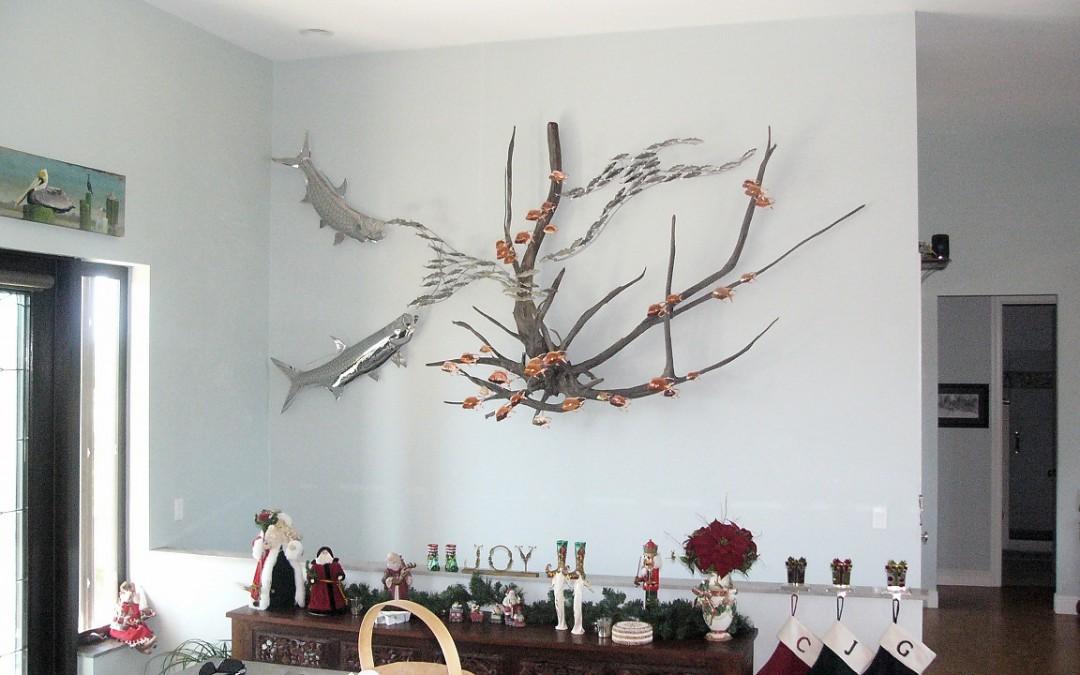 Driftwood Sculpture With Tarpon