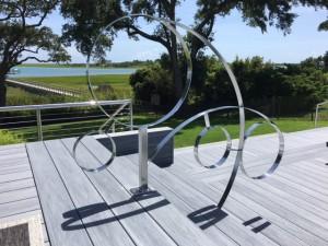 Stainless steel pool rails