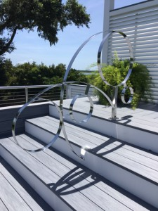 Stainless steel pool rails