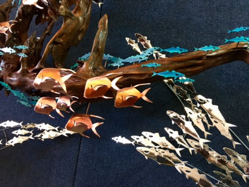Driftwood Sculpture With Polished Array